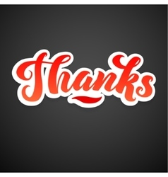 Thank you card calligraphic inscription hand vector
