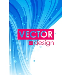 Blue abstract curve background vector