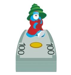 Money and Santa Claus vector image
