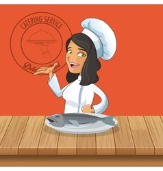 Happy chef or cook icon image vector