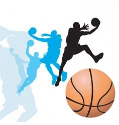 basketball dunk2 vector image