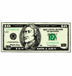 Ten dollar bill vector