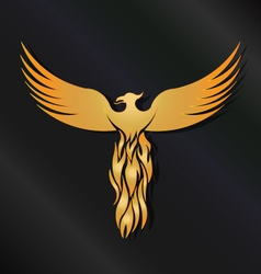 Golden Phoenix Bird vector image