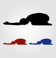 Yoga pose- Shashankasana vector image