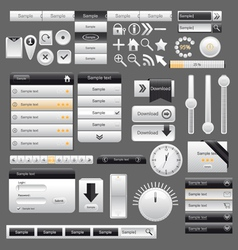 Web and mobile interface elements vector