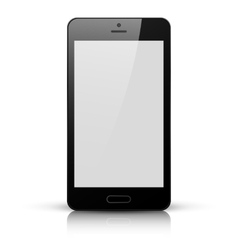 Black mobile phone with white screen vector
