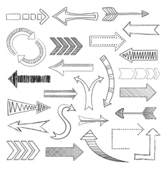 Arrows icons set sketch vector image