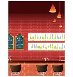 Bar Interior background vector image vector image