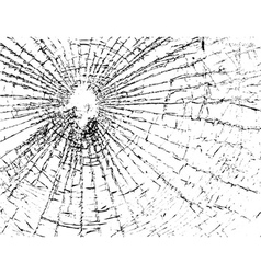Broken glass grunge texture white and black vector image vector image