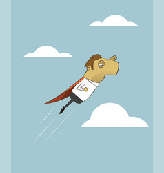 businessman is flying like superman vector image