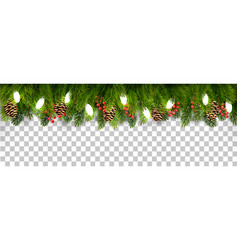 Christmas holiday decoration with branches of vector