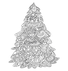 Christmas tree coloring vector