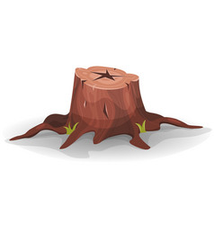 Comic tree stump vector