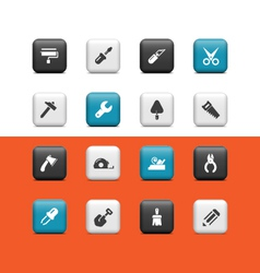 Construction tools buttons vector image