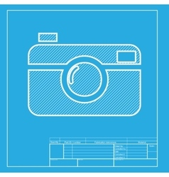 Digital photo camera sign White section of icon vector image vector image