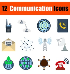 Flat design communication icon set vector image