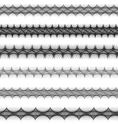 Fractal page text divider line set vector