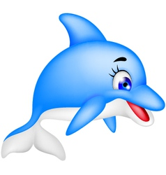 Funny dolphin cartoon vector