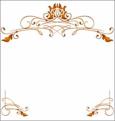 greeting card frame vector image