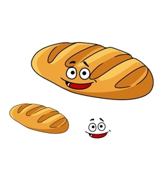 Happy baked crusty french baguette vector