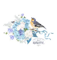 Hydrangea spring composition vector