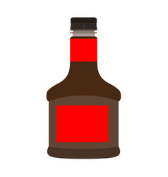 isolated soy bottle vector image vector image