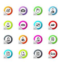 Job icons set vector