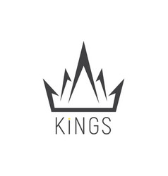 king logo crown emblem vector image vector image