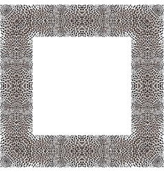 Leopard decorative frame vector