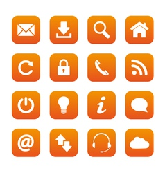 Orange web buttons vector image vector image