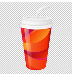 paper glass vector image