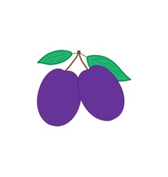 Sign flat plum 3807 vector image vector image