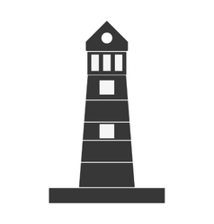 Silhouette lighthouse building maritime vector