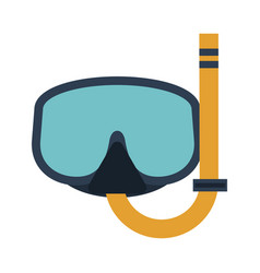 snorkeling mask diving icon image vector image