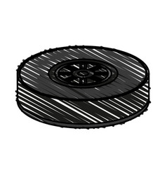 Tire car race vector