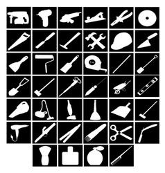 Tools builder cleaner rooms barber vector
