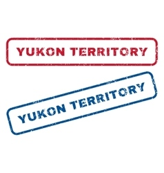 Yukon territory rubber stamps vector