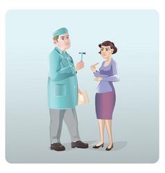 Cartoon neurologist examination concept vector