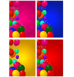 Set backgrounds for birthday vector image