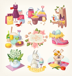 Spring card elements vector