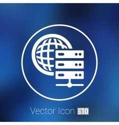 Planet Server icon symbol design workstation world vector image