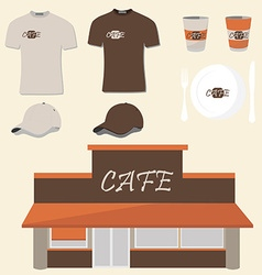 Cafe design vector