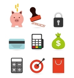 Business set icons vector