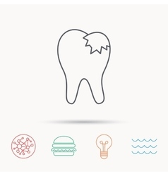 Dental fillings icon tooth restoration sign vector