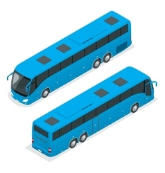3d isometric bus tourist bus global vector