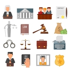Law justice legal court lawyer judgment judge vector