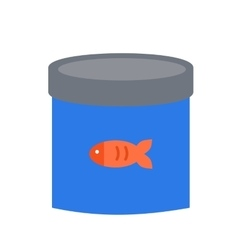 Canned fish food vector