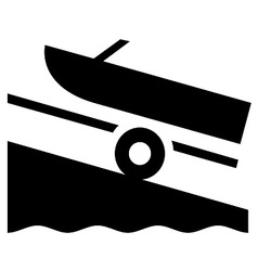 Boat launch symbol vector