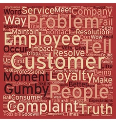 Better ways to handle complaints text background vector
