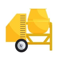 Building mixer for concrete icon cartoon style vector